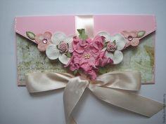 """Подарочный конверт """"Французский сад"""" - Конверт для денег,конверт ручной работы"""