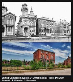 Brush Park - then and now - Detroit. Those amazing old homes are all gone now!