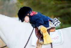Every horse deserves to be loved by a little girl at least once in its life.