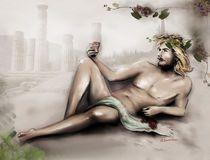 Dionysos/Bacchus Gott des Weines – männlicher Akt von Marita Zacharias