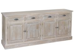 Sideboard - Natural Collection by Craftenwood for Hallway furniture. Sideboard Decor, Rustic Sideboard, Sideboard Cabinet, Credenza, Hallway Furniture, Painted Furniture, Home Furniture, Deco Buffet, Wood Buffet