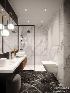 d-interior. Modern Luxury Bathroom, Bathroom Design Luxury, Modern Bathroom Design, Small Luxury Bathrooms, Modern Interior, Small Bathroom, Marbel Bathroom, Black Marble Bathroom, Bathroom Renovations