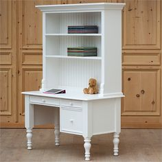 The Small Library Desk with Hutch is the perfect heirloom quality furniture piece for your child's room