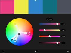 Graphics 3 / Colour rule: Triad / Magneta Pink (active): exciting, stimulating, dramatic, magnetic, impulsive / Pineapple Yellow (warm, active): lively, illuminating, innovative, surprise / Cerulean Blue (Cool, passive): electric, energy, vibrant / Teal (cool, passive): confident, sophisticated
