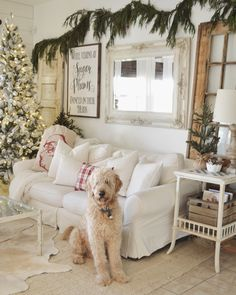 Beautiful Christmas Decoration Ideas For Your Living Room 36 Winter Living Room, Christmas Living Rooms, Christmas Home, Christmas Holidays, Living Room Decor, Christmas Crafts, Merry Christmas, White Christmas, Christmas Trees