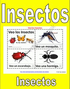 Insects in Spanish 2 Booklets - Los Insectos from Sue Summers on TeachersNotebook.com (6 pages)  - Insects in Spanish 2 Booklets - Los Insectos