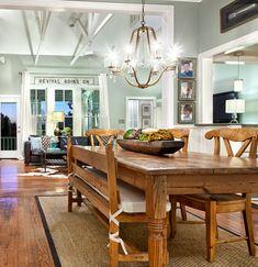 farmhouse design ideas | Farmhouse Table Design, Pictures, Remodel, Decor And Ideas / design ...
