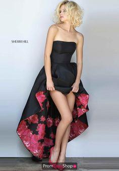 Sherri Hill Print Taffeta Dress 51160
