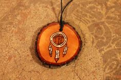 """Nahko and Medicine for the People Dream Catcher Wood Burned Necklace - """"I believe in the good things coming"""" by allysonanthony on Etsy https://www.etsy.com/listing/482292866/nahko-and-medicine-for-the-people-dream"""
