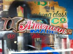 American Made - hand painted antique hand saw by Working Class Creative.