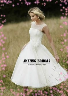 Special price-Short wedding dress-50's style wedding dress- Simple short wedding gown on Etsy, $178.00