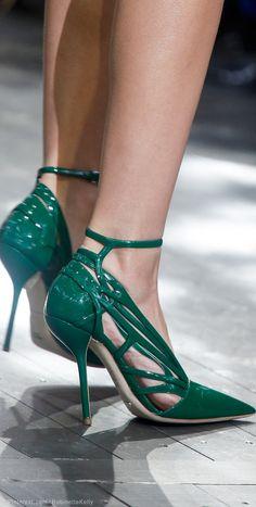 Christian Dior Green Sandals Spring Summer  2014