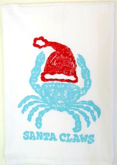 Everything Coastal.: Snicker Doodles for Santa Claws Aussie Christmas, Australian Christmas, Summer Christmas, Tropical Christmas, Coastal Christmas, Christmas 2017, Caribbean Christmas, Santa Claws, Christmas Towels