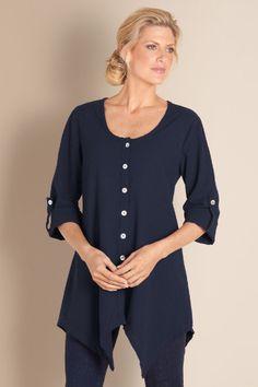 Daniella Gauze Tunic - Scoop Neckline Tunic, Cotton Gauze Top, Tunics | Soft Surroundings