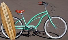 Anti Rust Light Weight Aluminum Alloy Frame, Fito Marina Alloy 7-speed for women – Mint Green, 26″ wheel Beach Cruiser Bike Bicycle