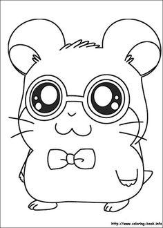 hamtaro coloring picture