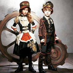 """96 Likes, 1 Comments - @atomicjanesteam on Instagram: """"Steampunk Kids [image found on ebay#steampunk#socute#victorianinspired#costume#coolidea"""""""
