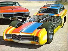 """TV Tommy Ivo's """"Riviera Wagon Master"""" the 1st car banned by the NHRA"""