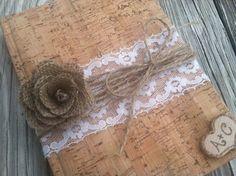 rustic wedding guest book, fall wedding, autumn wedding, country wedding book burlap wedding, shabby chic wedding book