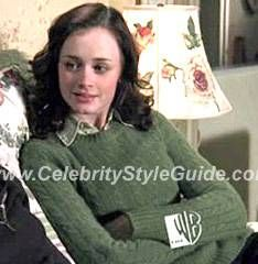 Gilmore Girls Style and Fashion - J. Crew Green Cable Knit Top on Celebrity Style Guide