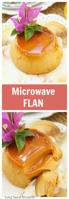 Dulce de Leche Microwave Flan is part of Quick dessert Microwave - Microwave Flan This delicious and creamy dulce de leche flan recipe is baked in the microwave for only 2 minutes The perfect gluten free quick dessert! Mug Recipes, Baking Recipes, Sweet Recipes, Recipies, Cake Recipes, Easy Desserts, Delicious Desserts, Dessert Recipes, Flan Dessert
