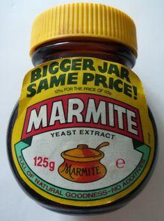 "Marmite jar, glass, empty ""Bigger jar same price"" offer. Big Jar, Yeast Extract, Marmite, Coffee Cans, Childhood Memories, 1980s, Empty, Jars, Pots"