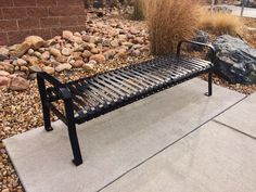 Maglin's 300 Series Backless Bench is a timeless piece that delivers functionality and style to any space. Recycling Station, Street Furniture, Urban Design, Outdoor Furniture, Outdoor Decor, Landscape Architecture, North America, Backless, Steel