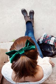Love the bow and the boots!