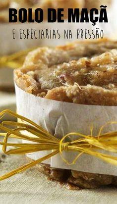 Bolo de maçã e especiarias na pressão! uma delícia feita com a praticidade da panela de pressão
