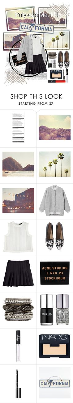 """Southern California Meet-Up"" by edenslove ❤ liked on Polyvore featuring Arche, Monki, Alexander Wang, Moschino Cheap & Chic, H&M, Acne Studios, 2b bebe, Nails Inc., NARS Cosmetics and Givenchy"