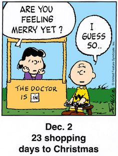 dec2 this is a classic countdown panel from 1998 christmas snoopy charlie - Peanuts Christmas