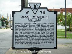 Jessie Menifield Rattley W-78 | Marker History  http://www.markerhistory.com/jessie-menifield-rattley-marker-w-78/