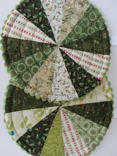 Christmas Quilted Trivet Hot Pad Reversible