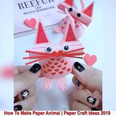Beautiful Paper Crafts - Beautiful Crafts - Beautiful Paper Crafts Creative ideas about paper crafts. Fun Arts And Crafts, Paper Crafts For Kids, Cute Crafts, Preschool Crafts, Diy And Crafts, Kids Origami, Paper Crafts Origami, Origami Art, Tarjetas Diy