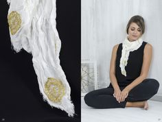 Bobbin lace, Pillow lace, Accessories, scarf, crush, texture, handmade, traditional Greek handicraft, soya fabric, sustainable fashion. www.ariadnesthread.gr