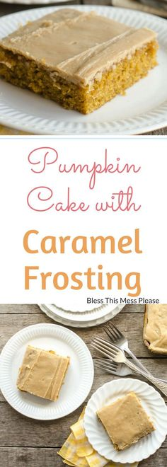 Pumpkin Sheet Cake with Caramel Frosting ~ Easy pumpkin sheet cake with a rich caramel icing that will feed a crowd!