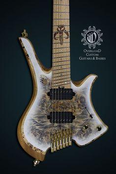 Overload Custom Guitars & Basses  Themis 7 - White Burst Finish