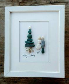 Christmas pebble art Christmas decor Holidays by pebbleartSmiljana