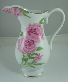 pink roses pitcher