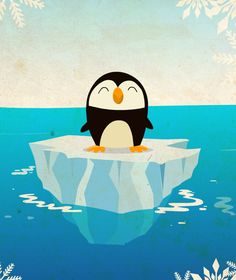 Look at this penguin. It is trying to balance on an iceburg... AWW!!!!!!!!!!!!!!