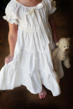 Muslin Nightgown.  Would love to make this for my daughter someday when I get better at sewing!