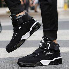 sports shoes f0d9d b7570 Men High Top Sneakers Cool Hip Hop Shoes Outdoor Sports Shoes Basketball  Boots