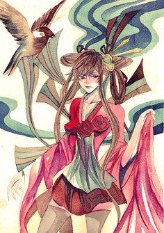 ::little bird:: by meisan on deviantART