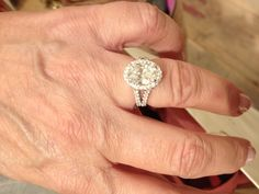 Perfection. Oval engagement ring