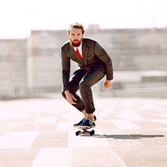 I think longboarding gives me a James Bond look.