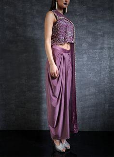 075c16fa8ec Indian Fashion Designers - Nidhi Singh - Contemporary Indian Designer - One  Sided Cape Top Set