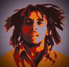 Bob Marley Lego digital art, by Georgeta Blanaru #art, #gerogeta, #blanaru