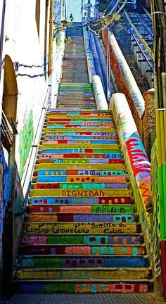 Stairway To Heaven Valparaiso Chile by Kurt Van Wagner – Best Travel images in 2019 Places To Travel, Places To See, Travel Destinations, Les Continents, Stairway To Heaven, South America Travel, Central America, Stairways, Travel Inspiration