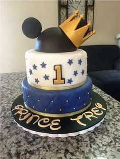 Beautiful Photo of Prince Birthday Cake . Prince Birthday Cake Prince Mickey Cake Party Ideas Everyone Knows I Love To Plan My Baby Mickey, Pastel Mickey Mouse Niño, Mickey Mouse Birthday Theme, Fiesta Mickey Mouse, Toddler Boy Birthday, Boys 1st Birthday Cake, Prince Birthday Party, Mickey Cakes, Mickey Mouse Cake
