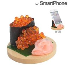 What a delectable-looking plate of salted salmon roe sushi. Wait…it's actually a smartphone stand! This stand looks just like a real piece of salted salmon roe sushi, even down to each individual, glistening roe. The nori seaweed wrapper and the garnish of ginger even look good enough to eat, but we'd advise against it! This is quite possibly the best way for foodies to stand up their iPhones while surfing the net or watching a movie!